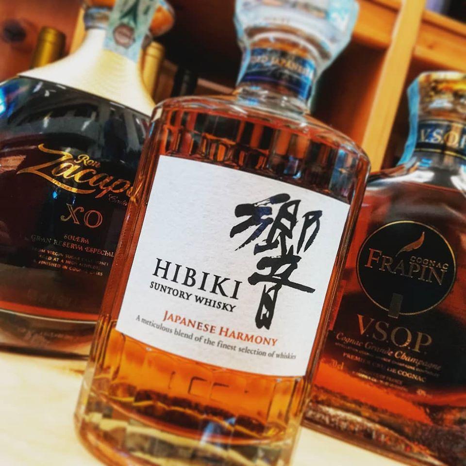 Rum Zacapa, Cognac Frapin e Whisky Hibiki
